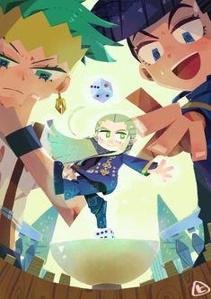 Rohan Kishibe, Mikitaka Hazekura, Josuke Higashikata. Jojo's Bizarre Adventure Anime, Jojo Bizzare Adventure, Anime Manga, Anime Art, Otaku, Jojo's Adventure, Jojo Anime, Jojo Parts, Fanart