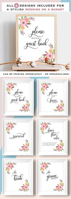 Wedding decor, wedding posters, flowers please sign our guest book, take a favour reserved dance floor rules the bride the groom posters Dance Floor Rules, Diy Wedding, Wedding Gifts, Wedding Ideas, Wedding Posters, Wedding Decorations, Decor Wedding, Wedding Confetti