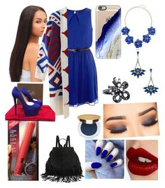 """Blue days ☄"" by zaina-shabazz on Polyvore featuring Christian Louboutin, DANNIJO, BERRICLE, Oscar de la Renta, Charlotte Tilbury, Casetify and Isaac Mizrahi"