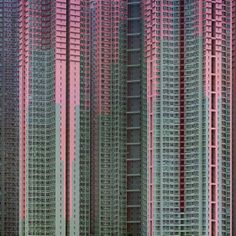 Architecture of Density is Michael Wolf's examination of Hong Kong and its buildings, one in which the context is largely removed and the scale is only understandable when viewed in relation to itself.