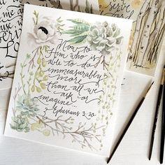 Ephesians 3:20 // beautiful idea for wedding invitations