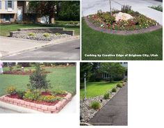 Front Yard Curb Appeal | curb appeal - corner flower beds details