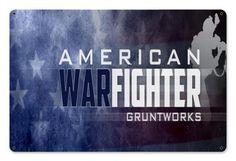 American War Fighter 2 Metal Wall Sign - Gruntworks11b