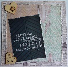 Love Life Handmade Card Birthday Card Beautiful Life Card