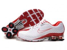 Nike Shox NZ, Nike Shox Shoes Womens Nike Shox White Red [Womens Nike Shox  - Breathable Womens Nike Shox White Red shoes for you.