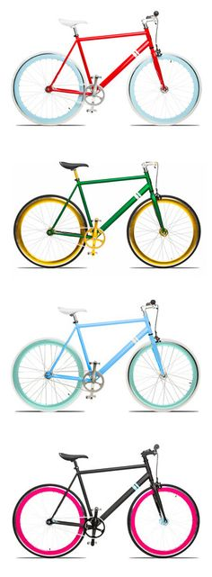 Get a jump start on your motivation for spring fitness with one of these awesomly colorful bikes!
