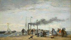 Eugène Boudin, « La Jetée de Trouville », 1863, du national Gallery of Art de Washington exposé au Havre.