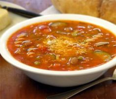 Homemade Minestrone Soup is so delicious.