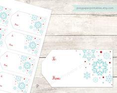 holiday gift tags printable DIY christmas by posypaperprintables
