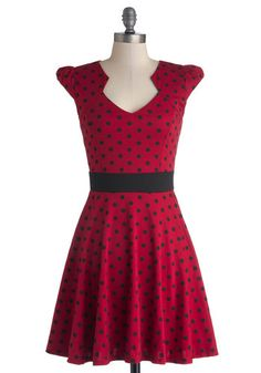 The Story of Citrus Dress in Red Dots