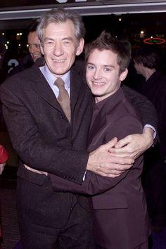 Ian McKellen and Elijah Wood (Gandalf and Frodo) <3