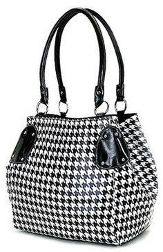 Classic Black & White Houndstooth Print Bucket Purse Bag Classy & Timeless scarlettsbags,http://www.amazon.com/dp/B005R8835O/ref=cm_sw_r_pi_dp_hTQHsb0D23PPJE9V