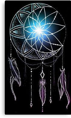 Картинки по запросу moon dream catcher tattoo