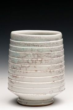 Laura Ross #ceramics #pottery Slab or coil (?) then carve