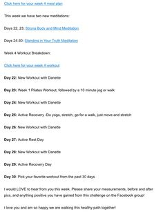 Danette May 30 Day Challenge Workout Pdf | freesub4 com