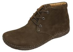 Alegria Men's Jake Choco Nubuck Ankle Boot - now on Closeout! | Alegria Shoe Shop #AlegriaShoes #AlegriaBoots #boots #closeouts #sale #mensboots