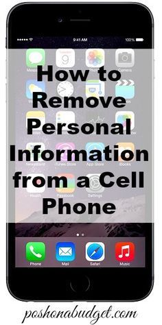 How to remove personal information from a cell phone iphone tricks, android tricks, iphone Iphone Hacks, Cell Phone Hacks, Smartphone Hacks, Deep Cleaning Tips, Cleaning Hacks, Cleaning Painted Walls, Clean Dishwasher, Good To Know, Just In Case