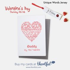 Written by Unique Words Jersey - Beautiful words for a little girl's first Valentine - her Daddy Daddy Valentine, Valentines Day, Unique Words, Beautiful Words, Christmas Thank You, Wands, Thank You Cards, Little Girls, Cricut