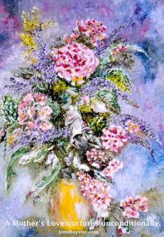 Honoring Mother's Day 2002 48 x 60 Oil Painting by Intuitive Painter Jenn Royster.