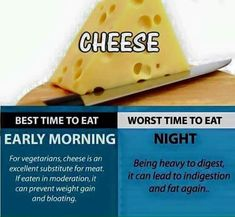 What is the worst time to eat cheese Healthy Mind, How To Stay Healthy, Healthy Nutrition, Healthy Recipes, Best Time To Eat, Different Recipes, Food Items, Weight Gain, Health Tips