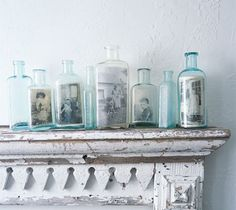 Cute idea to display old family photographs!