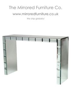 Mirrored Baguette Console table, handmade to order, www.mirroredfurniture.co.uk