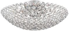 Geneva Chrome Crystal Modern Possini Euro Ceiling Light -