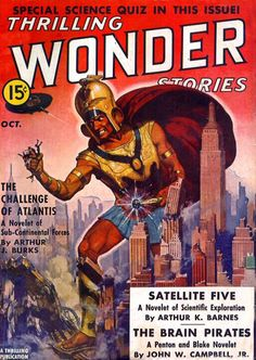 New item in my etsy shopThe Challenge of Atlantis US Pulp magazine cover Thrilling Wonder Stories from October 1938 by PanchromaticaDesigns. Find it here http://ift.tt/28MmjqV