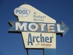 Archer Motel vintage neon sign | Flickr - Photo Sharing!