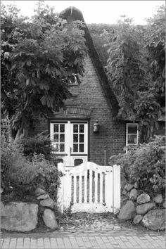 Poster Hauseingang Sylt sw - © Christine Bässler - Bildnr. 115361