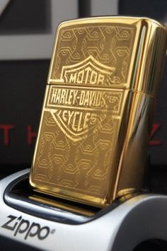 ZIPPO LIGHTER 24Ct GOLD PLATED HARLEY DAVIDSON GOLDEN SHIELD SPECIAL EDITION RARE & UNUSUAL ZIPPO LIGHTERS, CASES, AND ACCESSORIES  FROM easyonthewedge2011