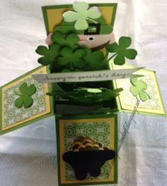 St Patrick's Day card in a box