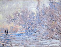 Le Givre À Giverny, Claude Monet 1885