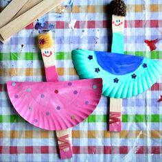paper plate ballerina craft
