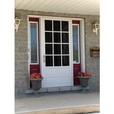 Screen tight prairie view 32 in solid vinyl white screen door pv32 at the home depot mobile - Screen storm doors home depot ...