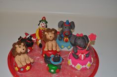 circus clown and animals