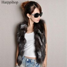 d88c371589442 Free shipping genuine real natural Fox fur vest  Waistcoat Women s clothing  Style Newest In Stock custom big size 80-120 bust. Yesterday s price  US   103.00 ...