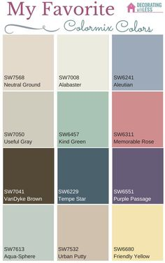 My Favorite Paint Colors From Sherwin Williams Colormix 2016 Por