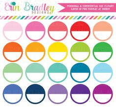 Circles Clipart – Erin Bradley/Ink Obsession Designs
