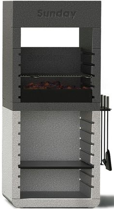 Sunday grill from Emo Design introduces a revolution for the barbecue market. One, the new range of fixed barbecues, thanks to the patented system Duo, Read Barbecue Grill, Design Barbecue, Outdoor Barbeque, Grill Design, Grilling, Baby Shower Finger Foods, Diy Wood Stove, Modern Patio Design, Outside Grill