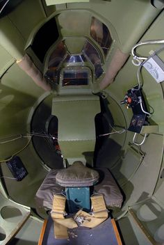 "Rear gunner position in the Boeing B-17G ""Shoo Shoo Shoo Baby"" at the National Museum of the United States Air Force. (U.S. Air Force photo)"