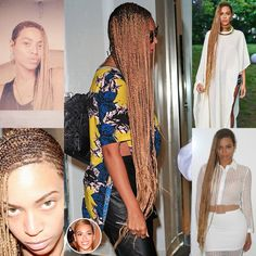 Beyonce long cornrows More