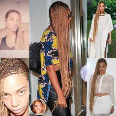 Beyonce long cornrows More