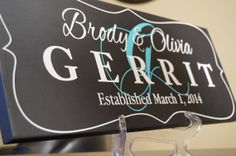 Personalized Family Name Sign Established Plaque by GaroSigns, $32.99