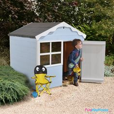 A children's playhouse is the perfect gift. From the traditional wendy house to two-storey playhouses, our range is ideal for your child. Childrens Playhouse, Playhouse Outdoor, Wendy House, Roofing Felt, Shed Roof, Different Shapes, Play Houses, Your Child, Minions