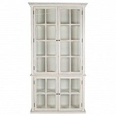 Vitrine in white with glass on 3 sides - Trade Secret