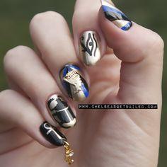 Nefertiti Egyptian #nail #nails #nailart