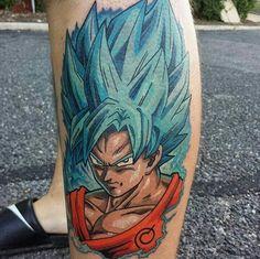 Goku ssj blue Z Tattoo, Blue Tattoo, Dragon Ball Z, Tattoo Designs, Tattoo Ideas, Dbz, Watercolor Tattoo, Tatting, Tatoos