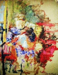 Jean Édouard Vuillard (1868-1940) Madame Vuillard Sewing c 1905