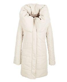 White Longline Parka Jacket